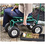 Amazon Com Pure Garden Garden Cart Rolling Scooter With