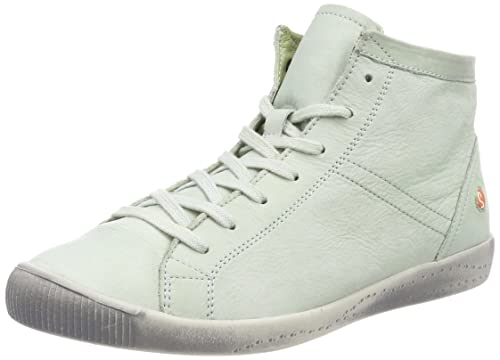 Womens Isleen Washed Hi-Top Trainers, Red Softinos