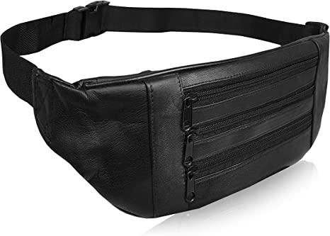 Real Leather Money Travel Bag Store Cash Essential Equipment Genuine Leather