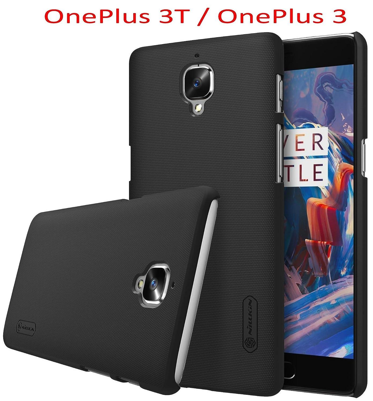 SMTR cubierta Slim Armor PC Funda + Protector de pantalla para OnePlus 3 Smartphone,(negro)