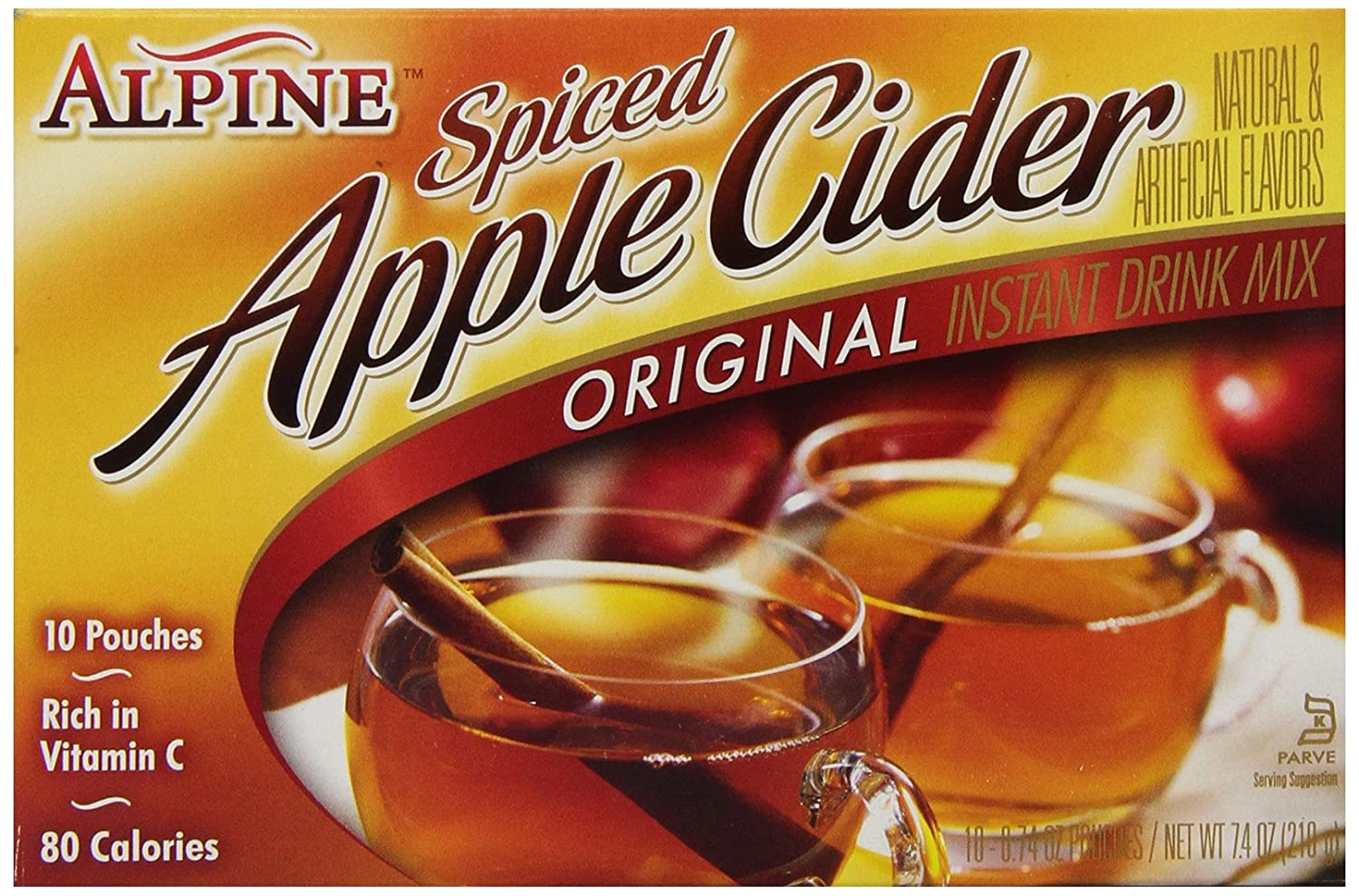 Alpine Spiced Cider Spiced Cider Apple Flavor Drink Mix, 10 ct