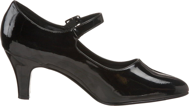 Pleaser DIVINE-440 Women/'s Single Soles Black Patent Mary Jane Pump Heels
