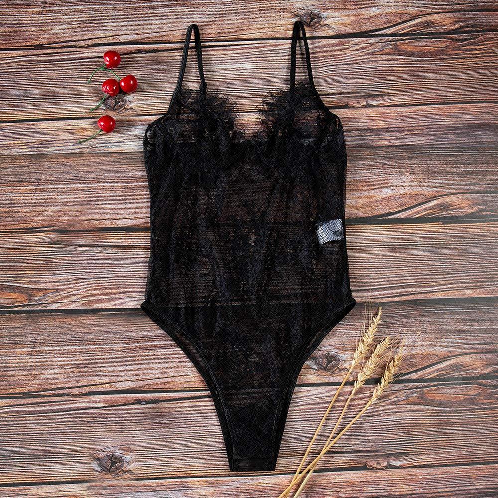 Diversión sexy YZNKDCD Ropa interior de erótica Mono de interior las mujeres eróticas del cordón de la lencería erótica de la ropa interior, busto de M: 70-94 Cintura: 66-88 Longitud: 56 6ee544