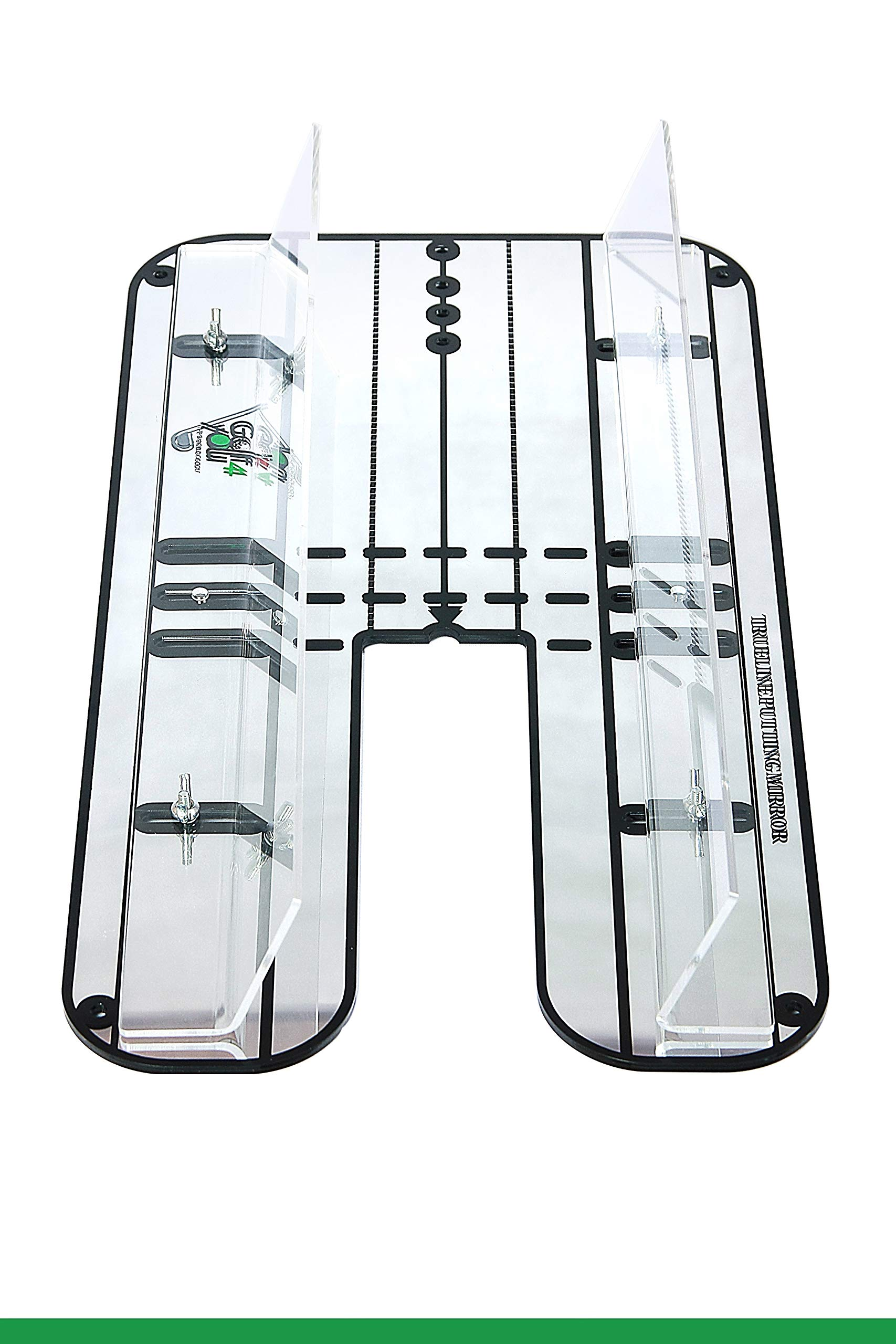 Golf Training Aid, Putting Set - XL Alignment Mirror Design with Our Exclusive Clear Adjustable Guide Rails ''True Line Putting Mirror'' - Leading Practice Aid for On-Line, Consistent Putting Stroke by GOLF4 YOU THE WORLD OF GOLF (Image #3)