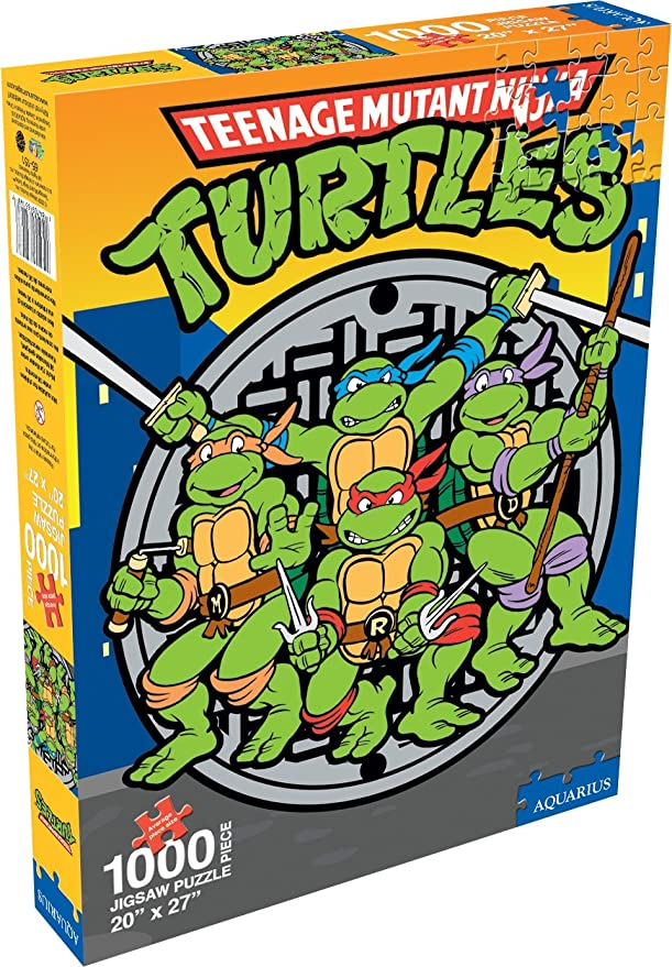 Amazon.com: TMNT Retro 1000 Piece Jigsaw Puzzle: Toys & Games
