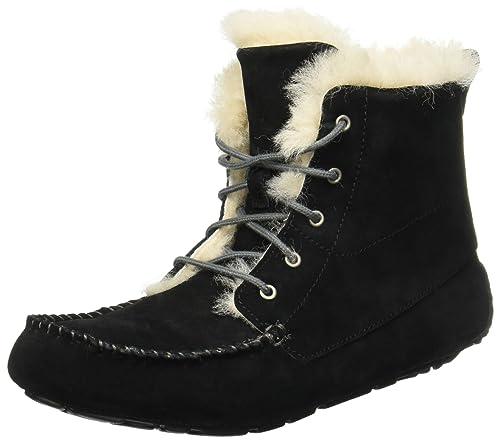 da4e4ba3239 UGG Women's Chickaree Bootie Slipper Black Size 7 M: Amazon.ca ...