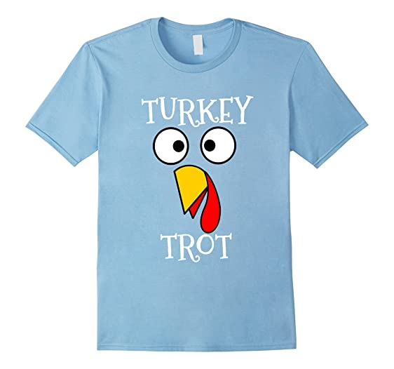 9dea924cc Mens Turkey Trot Funny Face Thanksgiving Running T Shirt 2XL Baby Blue