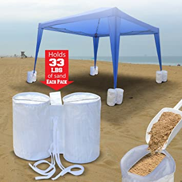 4 PCS outdoor CANOPY TENT WEIGHT SAND BAG ANCHOR KIT : canopy anchors - memphite.com