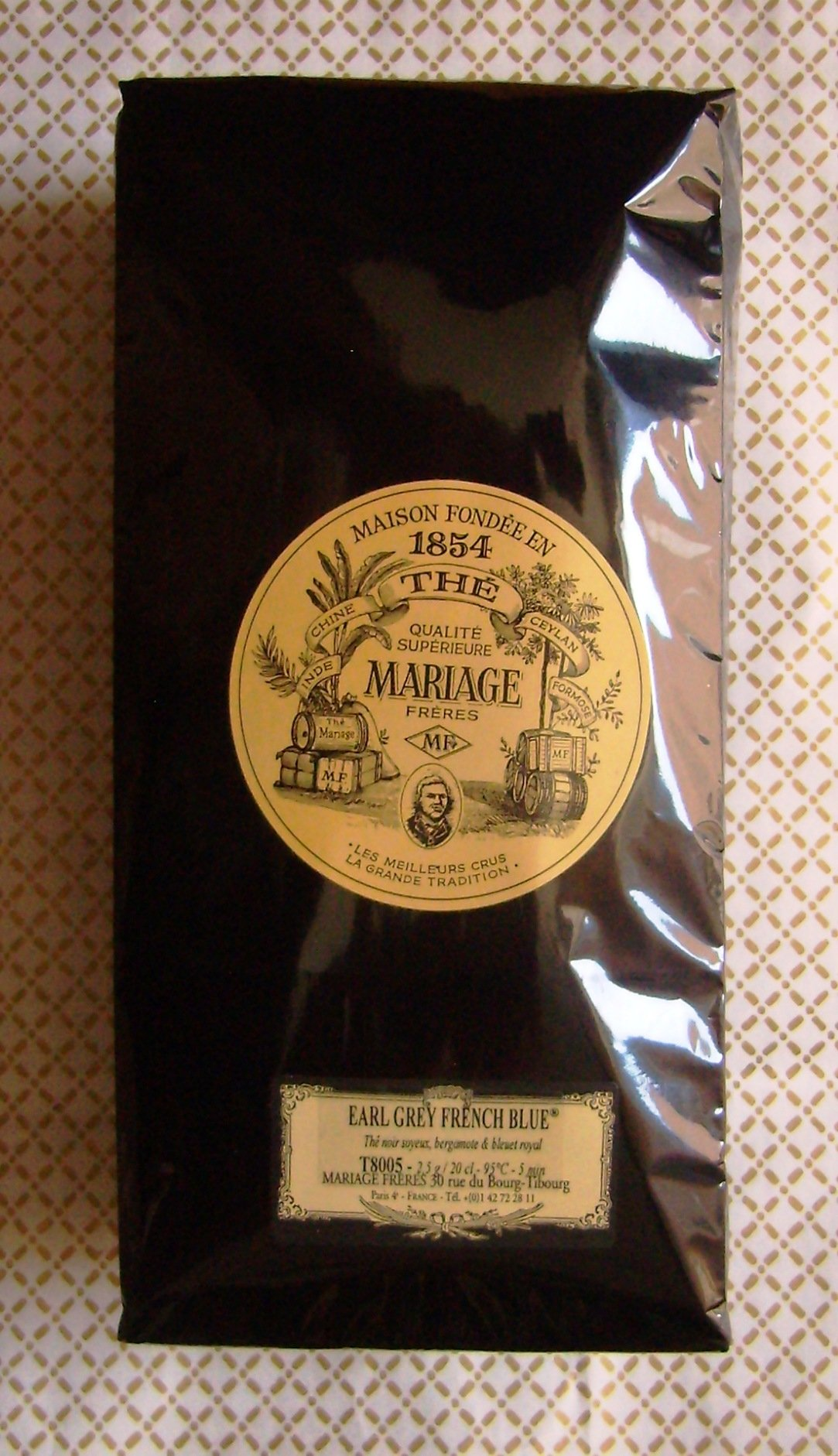 Mariage Freres - EARL GREY FRENCH BLUE (T8005) - 17.63oz / 500gr Loose Leaf BULK BAG