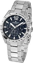 Jacques Lemans Mens Sport 42mm Steel Bracelet & Case Quartz Blue Dial Analog Watch ...