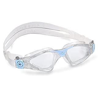 Aqua Sphere Kayenne Ladies Swimming Goggle with Clear Lens, Clear & Blue UV Protection Anti Fog Swim Goggles for Women