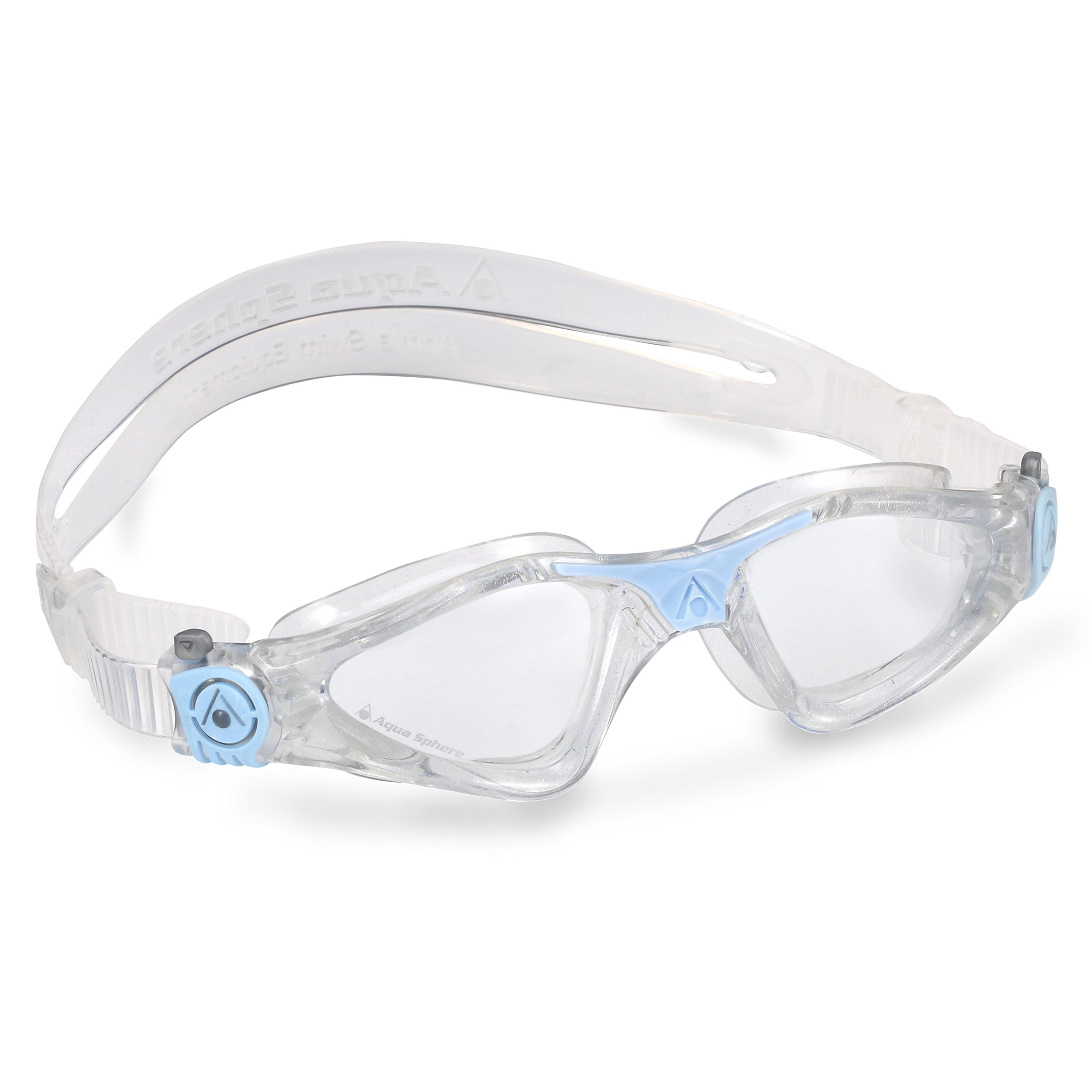 Aqua Sphere Kayenne Ladies Swimming Goggle with Clear Lens, Clear & Blue UV Protection Anti Fog Swim Goggles for Women by Aqua Sphere (Image #1)