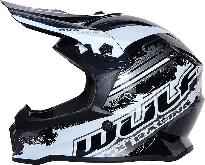 Wulfsport Advance Kids Motocross Helmet Cub Junior Sports Quad Pit Bike ATV BMX Childrens Motorcycle Racing Mx Helmet Red L