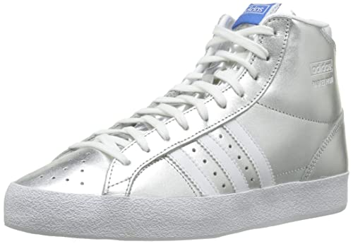 differently 685a4 7cccb adidas Originals Women s Basket Profi Og EF W Metallic Silver and White  Basketball Shoes - 7