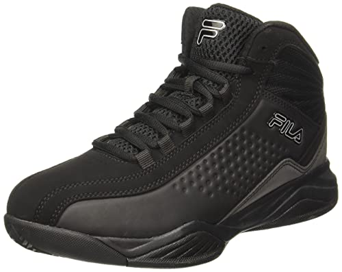 1c30ee683e2a Fila Men s Entrapment 3 Black and Metallic Silver Basketball Shoes - 9  UK India (