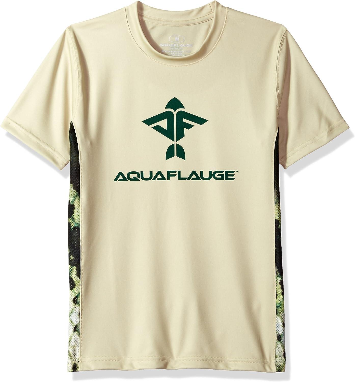 AquaFlauge Mens Short Sleeve 50//50 Performance Tee