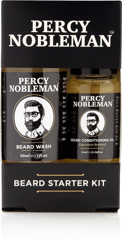Beard Grooming Kit, A Beard Oil & Beard Wash/Shampoo Starter Kit 99% Derived From Nature By Percy Nobleman (40ml) 66408