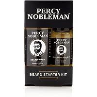 Kit per la cura della barba, Kit da barba essenziale con versioni in miniatura di olio da barba e detergente per barba Percy Nobleman