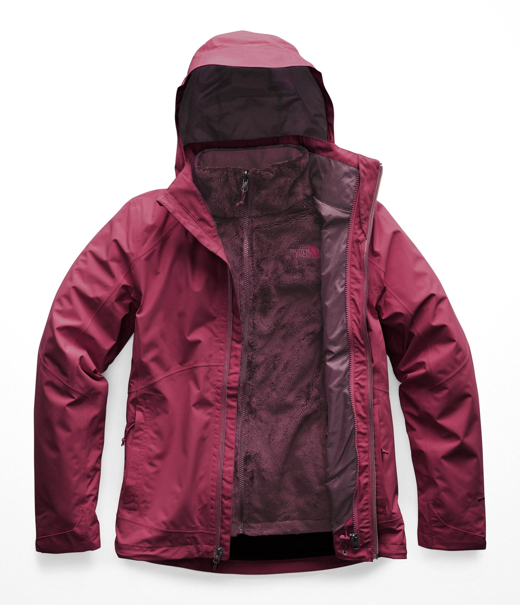 The North Face Women's Osito Triclimate Jacket - Rumba Red & Rumba Red - S by The North Face