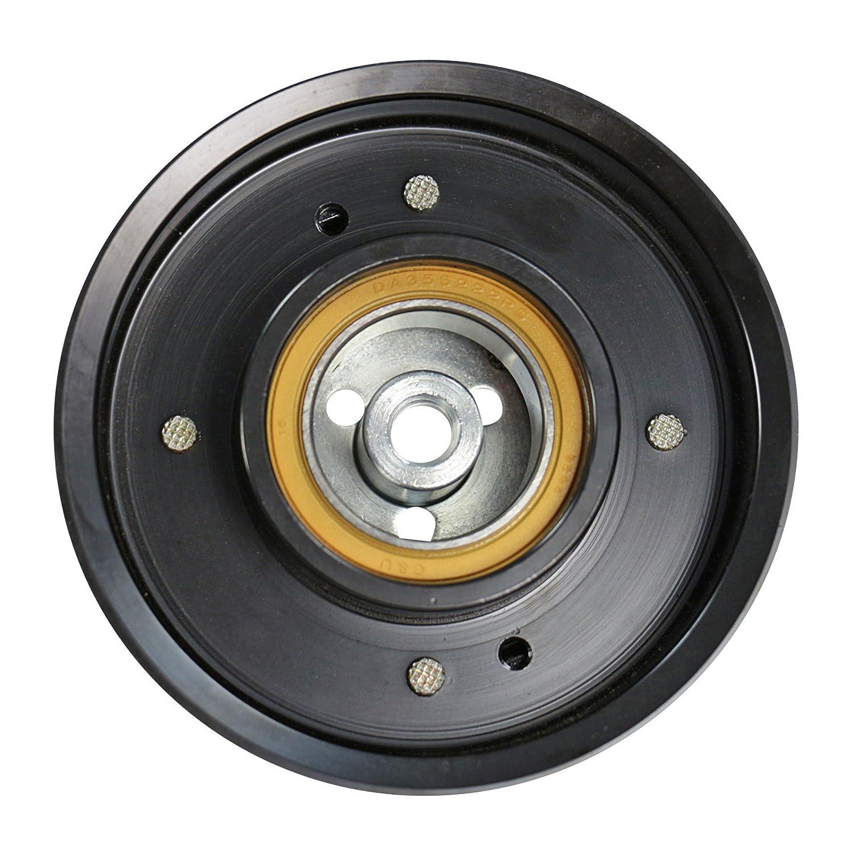 1x Polea para compresor de aire acondicionado A4 8E2,B6 1.6,1.8 T,1.9 TDI,2.0 2000-04 + AVANT 8E5,B6 + CABRIOLET 8H7,8HE DESDE 2003+ A4 8EC 1.6,1.8 T,1.9 ...