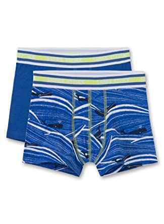 Sanetta Jungen Doppelpack Shorts, blau+blau Wale 333713 (140 ... 106fdc84af