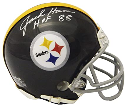b255fcbc1 Jack Ham Signed Pittsburgh Steelers Throwback Riddell Speed Mini Helmet w  HOF 88 -