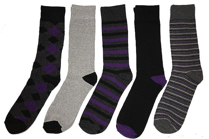 John Weitz Men's Casual Crew Socks, 65% Cotton, (5 Pr), Size