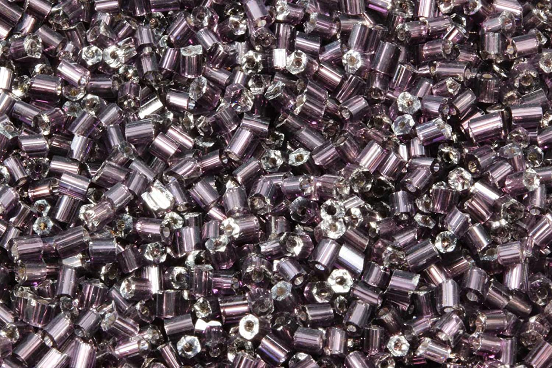 INWARIA Rocailles Stiftperlen mit Silbereinzug 2x2,5mm Röhrchen Glasperlen RP-22