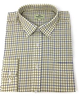 f254d907 Hoggs of Fife Pure Cotton Tattersall Check Shirts: Amazon.co.uk ...