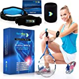 Tennis Elbow Brace – Elbow Brace with Compression Pad for Men & Women, Pain Reliever for Lateral Epicondylitis, Golfer's Tennis Elbow + Sports Wristband by Open Mind Sport + eBook with Tips & Tricks