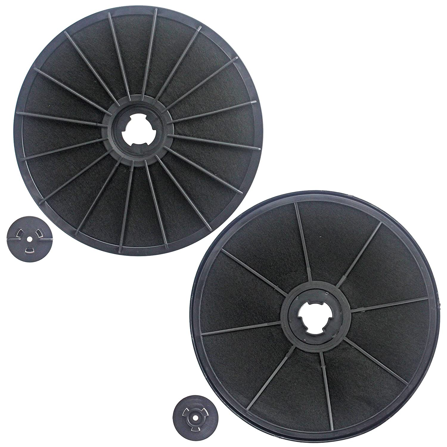 SPARES2GO Carbon Charcoal Vent Filters for Ariston Cooker Hood/Extractor Vents (Pack of 2)