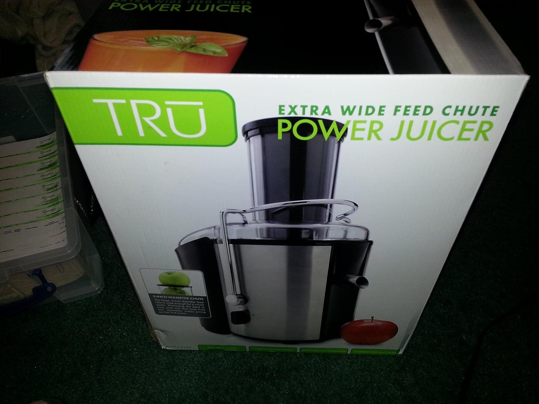 Tru Power JuicerExtra Wide Feed Chute