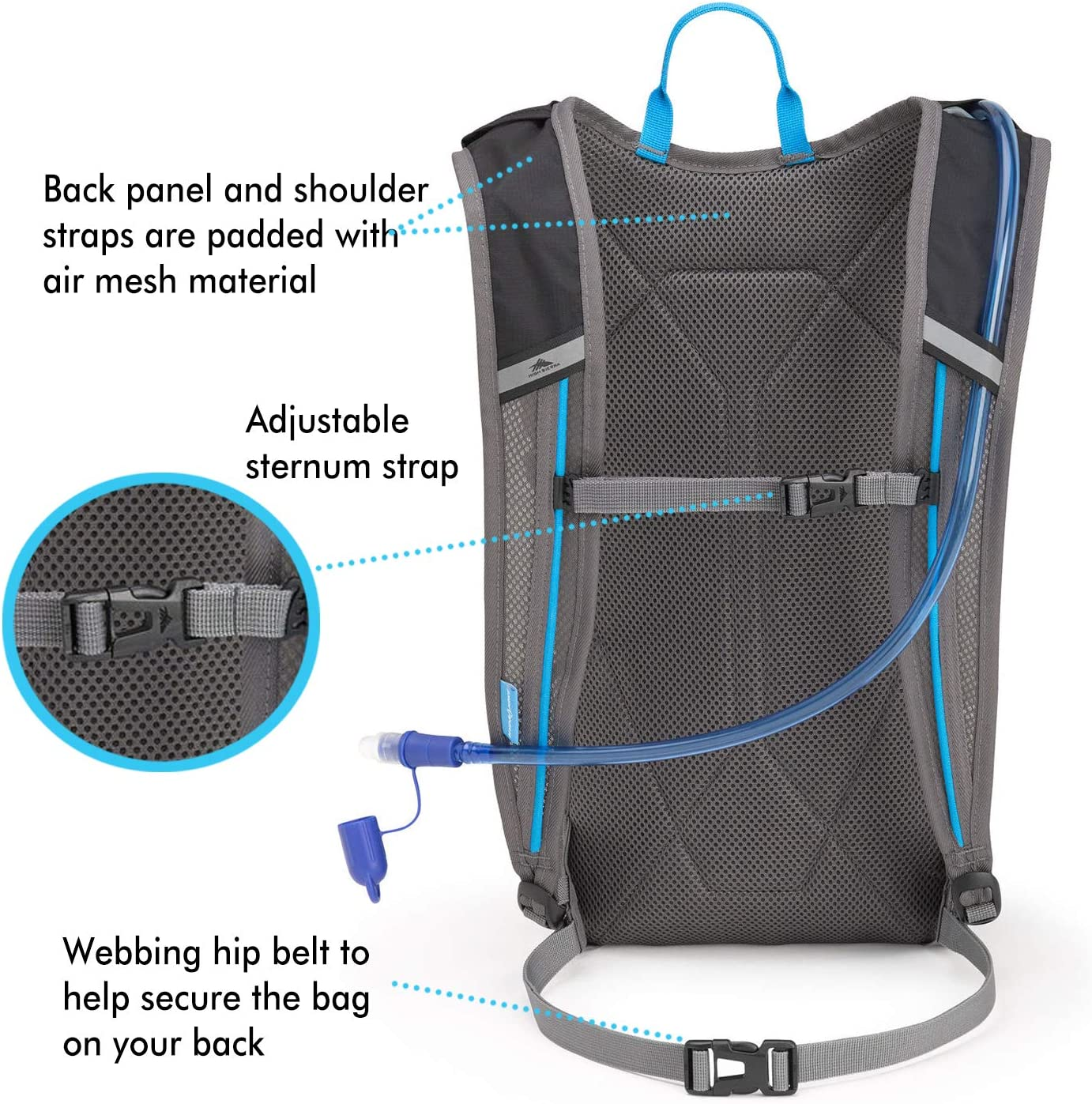 High Sierra Hydrahike Hydration Pack 8L Hiking Daypack