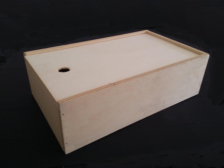 Caja de madera cajas de madera, packaging de madera Caja para botellas de vino en estuche de regalo para botellas, caja de madera para caja de regalo, diseño de buzón respetos: Amazon.es: