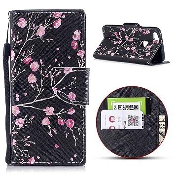 Huawei P10 Lite móvil, MSK Teléfono Móvil Huawei P10 Lite Funda Embossed paddelsurf Slim Cartera