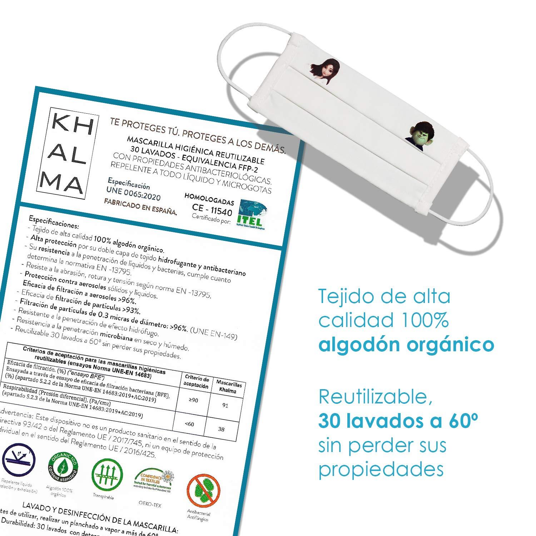 Mascarillas higi/énicas Mascarilla para ni/ños Mascarillas reutilizables lavables permiten hasta 30 lavados Talla ni/ño Mascarillas infantiles Mascarilla reutilizable 3 . 6-9 a/ños