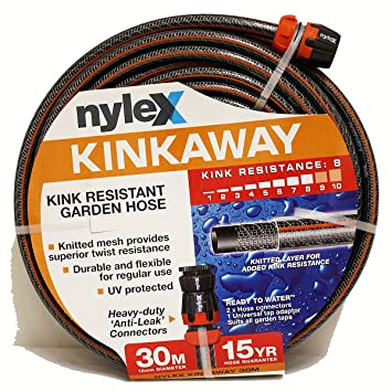 U0027Nylex Kink Away/Never Kink Heavy Yduty Garden Hose Water Hose 1/2
