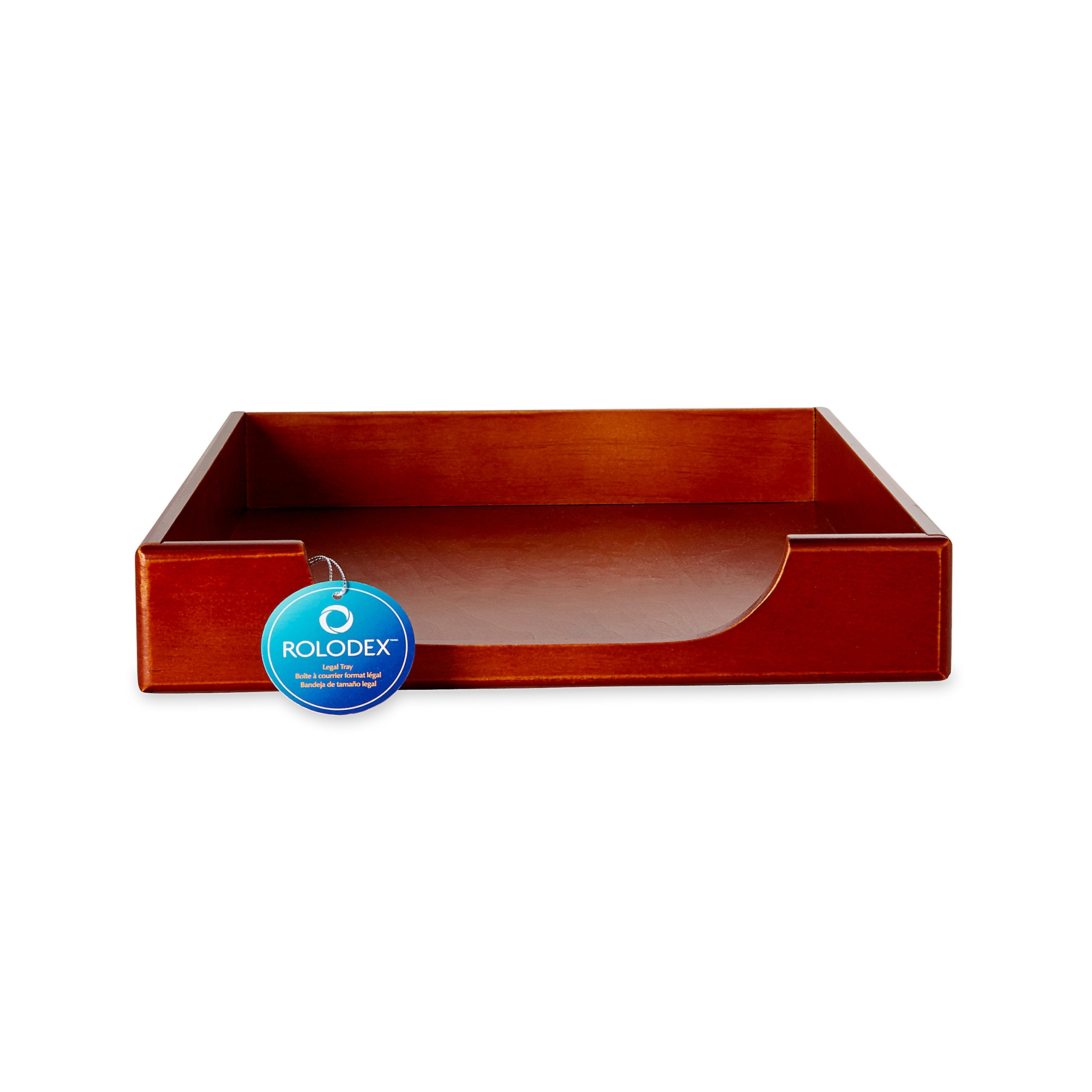 Rolodex Wood Tones Collection Desk Tray, Legal-Size, Mahogany (23360) by Rolodex (Image #3)