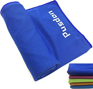 Soft Cooling Towel for Instant Relief, 48inch Extra Long Neck Chilly Scarf for Golf Workout Fitness Gym Yoga Pilates Travel Hiking Camping Outdoor Running Swimming Use Cold Feeling Wrap Sports Towel