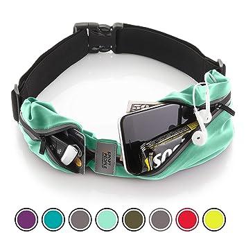 Sport2People Running Belt - Cinturon de running iPhone 6, 7 Plus para corredores - Mejor equipo de running para ejercicios de manos libres - cinturon ...