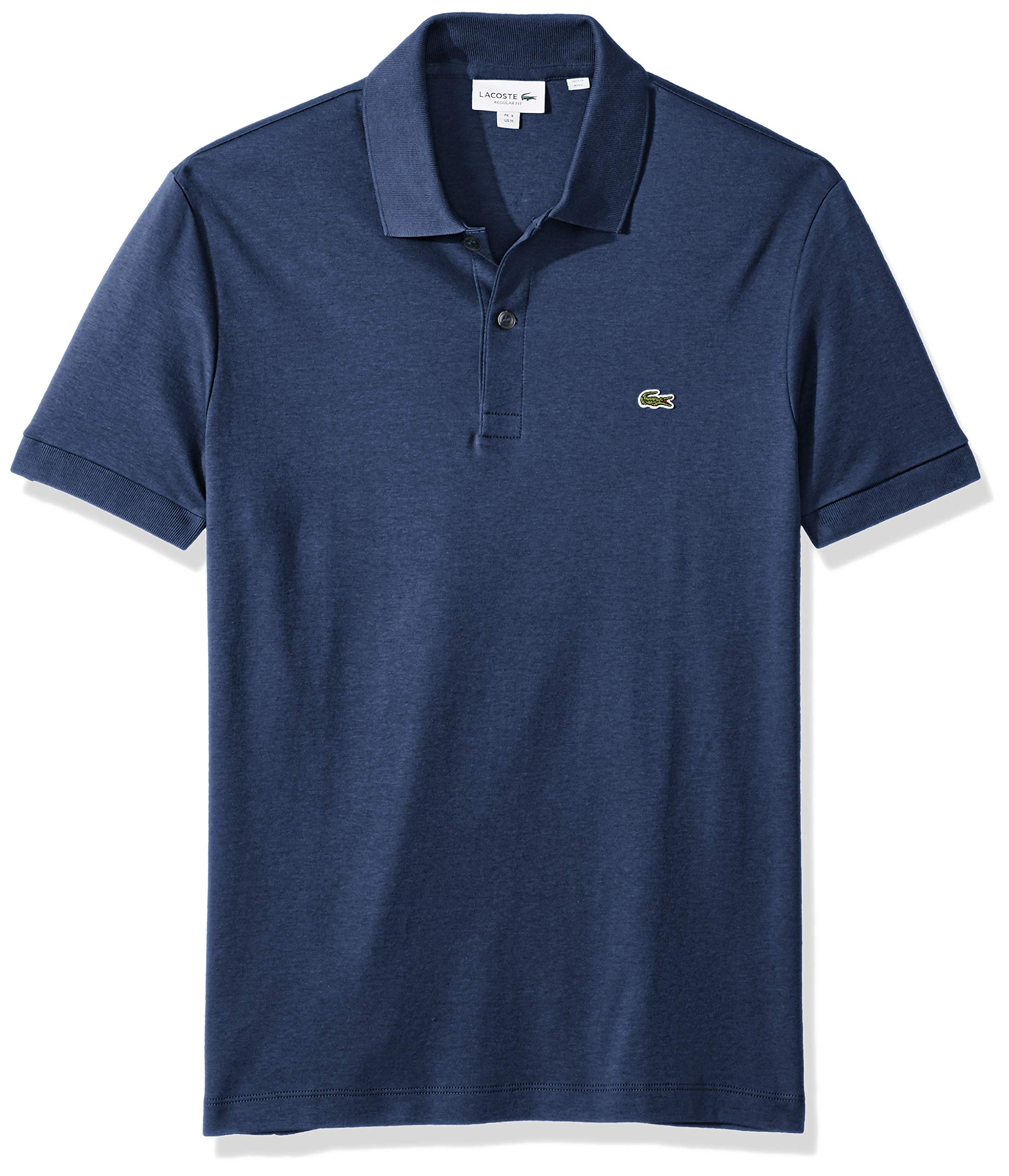 9e6f14af Galleon - Lacoste Men's Short Sleeve Pima Jersey Interlock Regular Fit Polo,  DH2050, Cruise Chine, Medium
