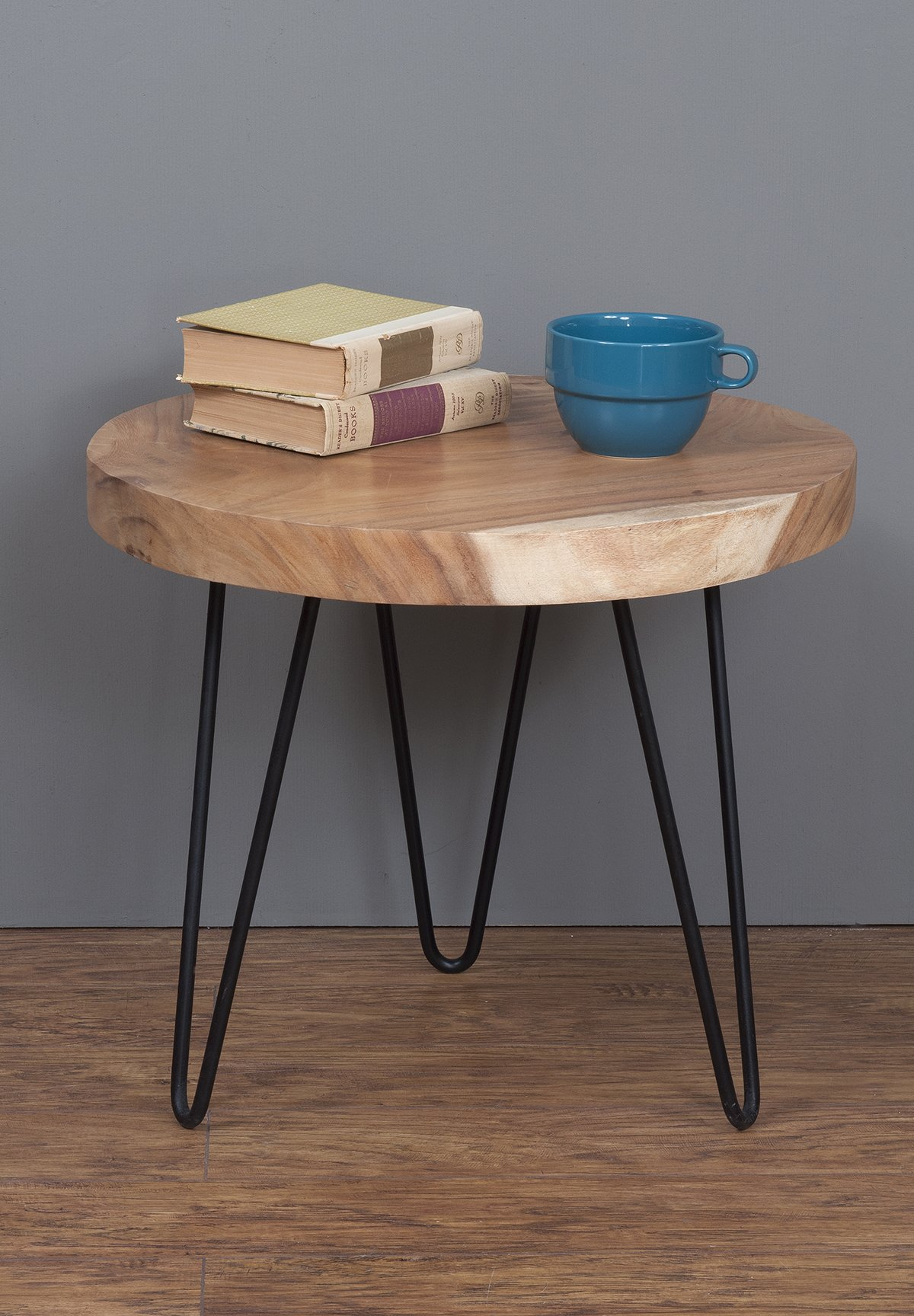 East at Main Phillip Brown Teakwood Accent Table, (22x22x19) - The dimensions of this product: 22x22x19 inches. Carefully hand-crafted using natural teak Comes with a 1 year limited manufacturer's warranty - living-room-furniture, living-room, end-tables - 81sDqaRVaPL -
