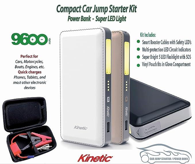 Amazon Com Kinetic 9600 Mah Mini Car Jump Starter Compact Power