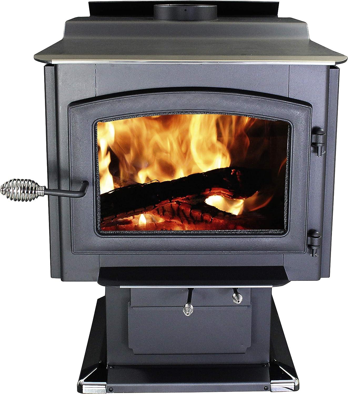 Ashley Hearth AW3200E-P Pedestal Wood Burning Stove- High Efficiency Wood Furnace