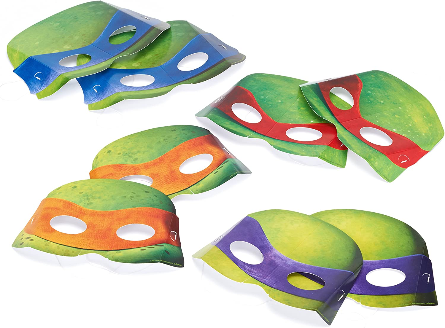 American Greetings Teenage Mutant Ninja Turtles (TMNT) Party Favors, Paper Party Masks (8-Count)