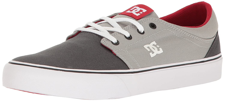 DC Men's Trase TX Unisex Skate Shoe B01LA17Y1A 8 D US|Grey/Grey/Red