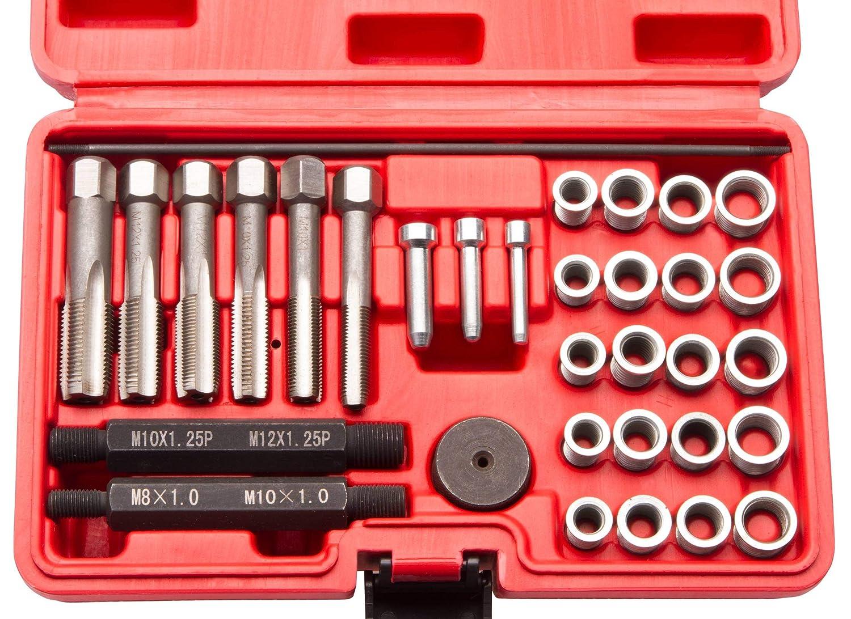 Hengda/® 16-tlg Gl/ühkerzen Wechsel Reparatur Satz Set Z/ündkerzen Ausbauwerkzeug M8 M10 f/ür KFZ