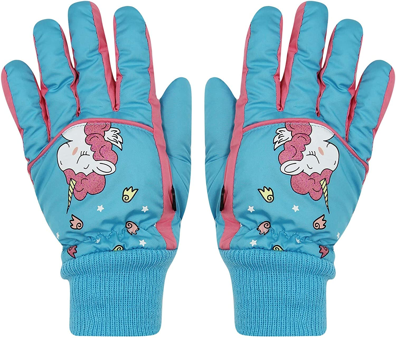 Children Kids Thicken Warm Snow Snowboard Long-sleeved Mitten Ski Gloves Hot~
