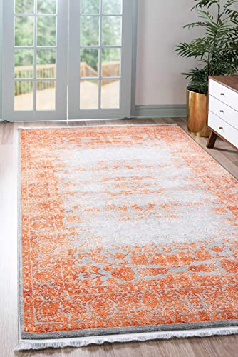 Unique Loom New Classical Collection Traditional Distressed Vintage Classic Terracotta Area Rug 9 0 x 12 0
