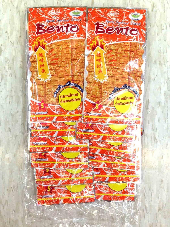Bento Squid Seafood Snack Original Thai Chili Sauce (Wt. 6g X 12 Bags)